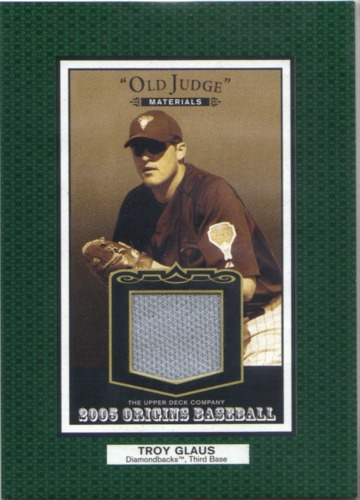 Photo of 2005 Origins Old Judge Materials Jersey #GL Troy Glaus