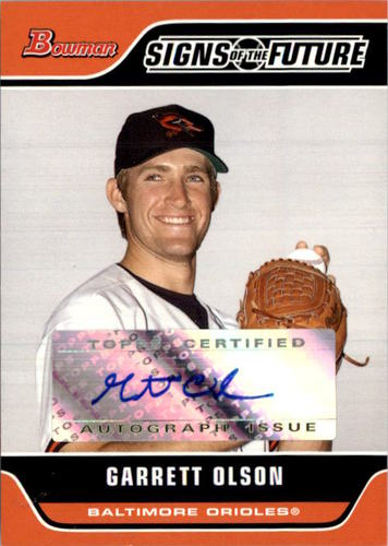 Photo of 2006 Bowman Signs of the Future #GO Garrett Olson C