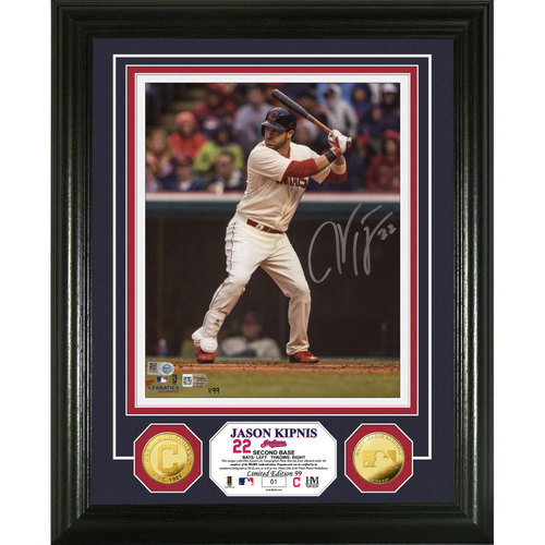 Photo of Serial #1! Ben Zobrist Autographed Gold Coin Photo Mint