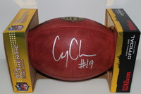 NFL - BROWNS COREY COLEMAN SIGNED AUTHENTIC FOOTBALL