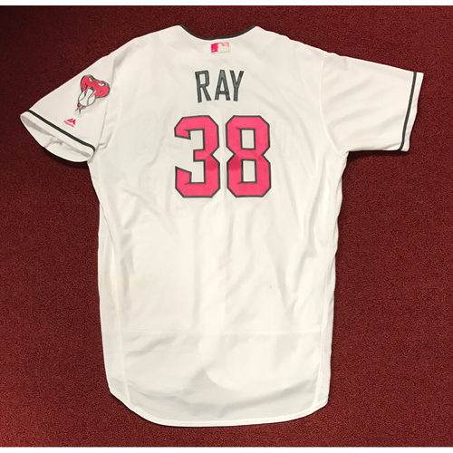 Photo of Robbie Ray Game-Used 2017 Mother's Day Jersey
