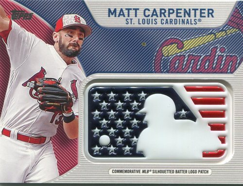 Photo of 2017 Topps Independence Day MLB Logo Patch #IDMLMCR Matt Carpenter