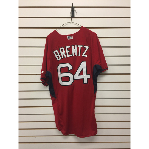 Photo of Bryce Brentz Team-Issued Home Batting Practice Jersey