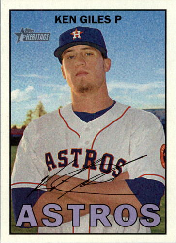 Photo of 2016 Topps Heritage #225 Ken Giles -- Astros post-season