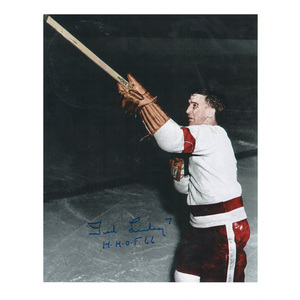 TED LINDSAY Signed Detroit Red Wings 8 X 10 Photo - 70468