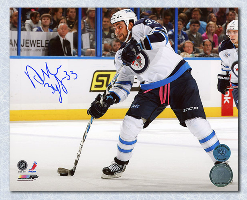 Dustin Byfuglien Winnipeg Jets Autographed Shooting 8x10 Photo