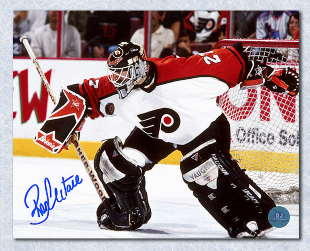 Ron Hextall Philadelphia Flyers Autographed Blocker Save 8x10 Photo