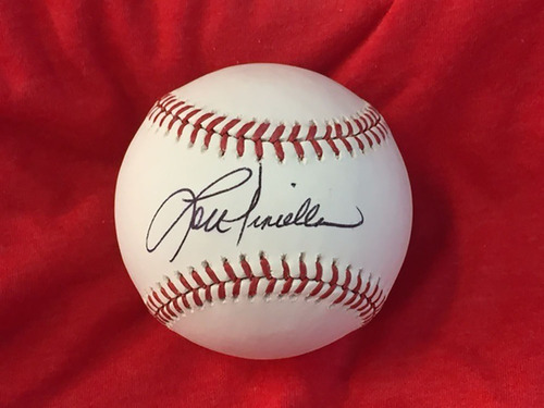 Photo of Lou Piniella Autographed Baseball