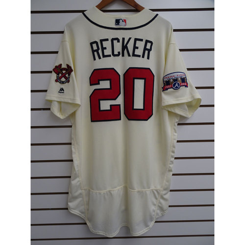 Photo of Anthony Recker Game-Used Jersey Worn during the Final Game at Turner Field