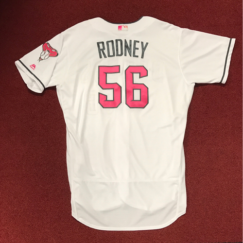 Photo of Fernando Rodney Game-Used 2017 Mother's Day Jersey