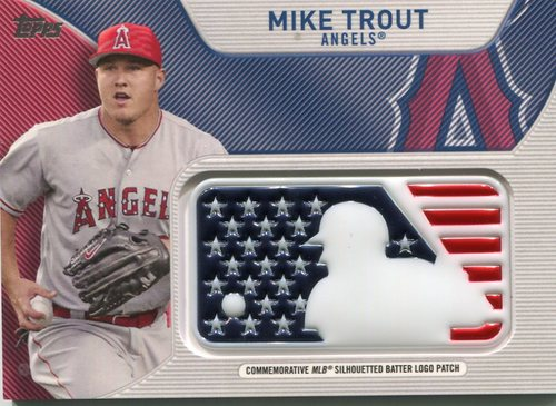 Photo of 2017 Topps Independence Day MLB Logo Patch #IDMLMTR Mike Trout
