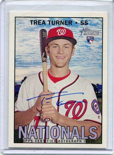 Photo of 2016 Topps Heritage Real One Autographs #ROATTUR Trea Turner -- Nationals post-season