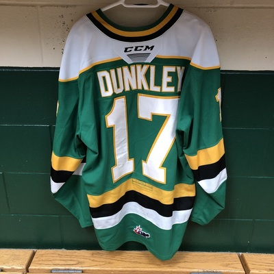 Nathan Dunkley 2019-2020 Green Game Jersey