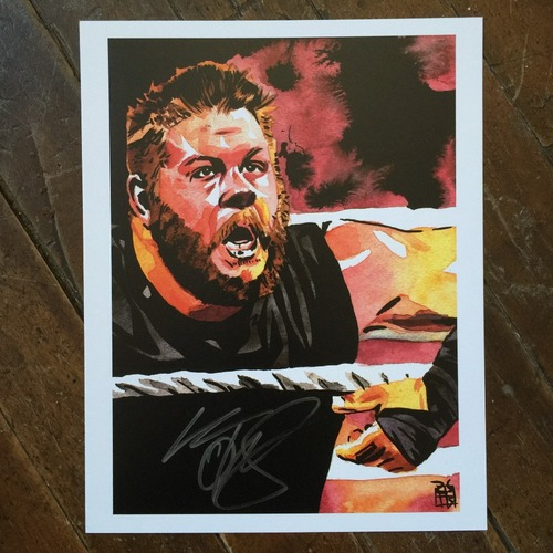 "Photo of Kevin Owens SIGNED 11"" x 14"" Rob Schamberger Print"
