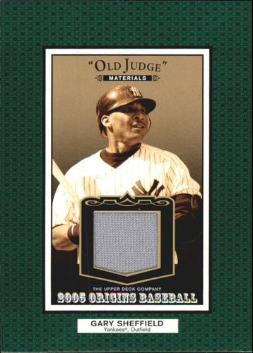 Photo of 2005 Origins Old Judge Materials Jersey #GS Gary Sheffield