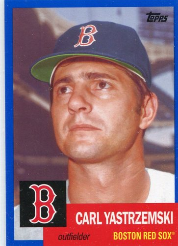 Photo of 2016 Topps Archives Blue #90 Carl Yastrzemski