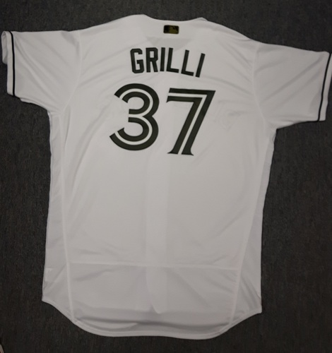 Photo of Authenticated Game Used Memorial Day Jersey - #37 Jason Grilli