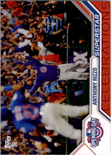 Photo of 2017 Topps Opening Day Superstar Celebrations #SC4 Anthony Rizzo -- NLCS roster