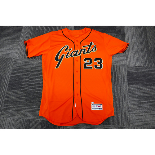 Photo of San Francisco Giants - 2017 Game-Used Orange Alt Jersey - worn by #23 Ron Wotus on 9/29/17 - (Size: 48)