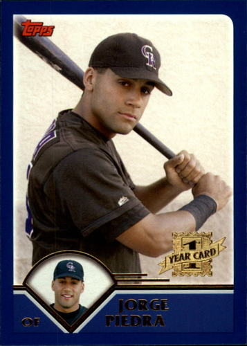 Photo of 2003 Topps Traded #T190 Jorge Piedra FY RC