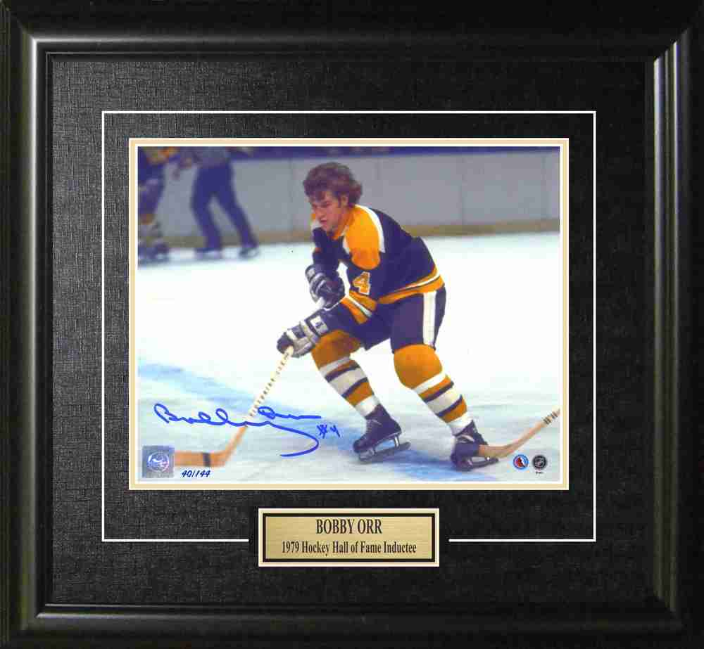 Limited Edition of 144 - Bobby Orr Signed Framed 8x10