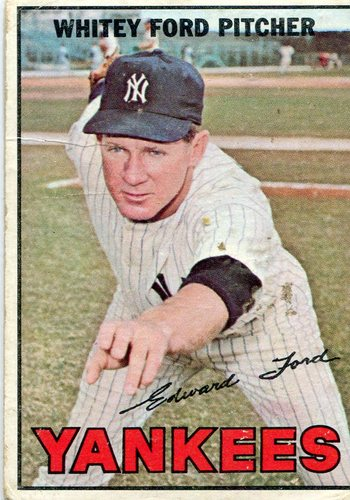 Photo of 1967 Topps #5 Whitey Ford -- Yankees Hall of Famer