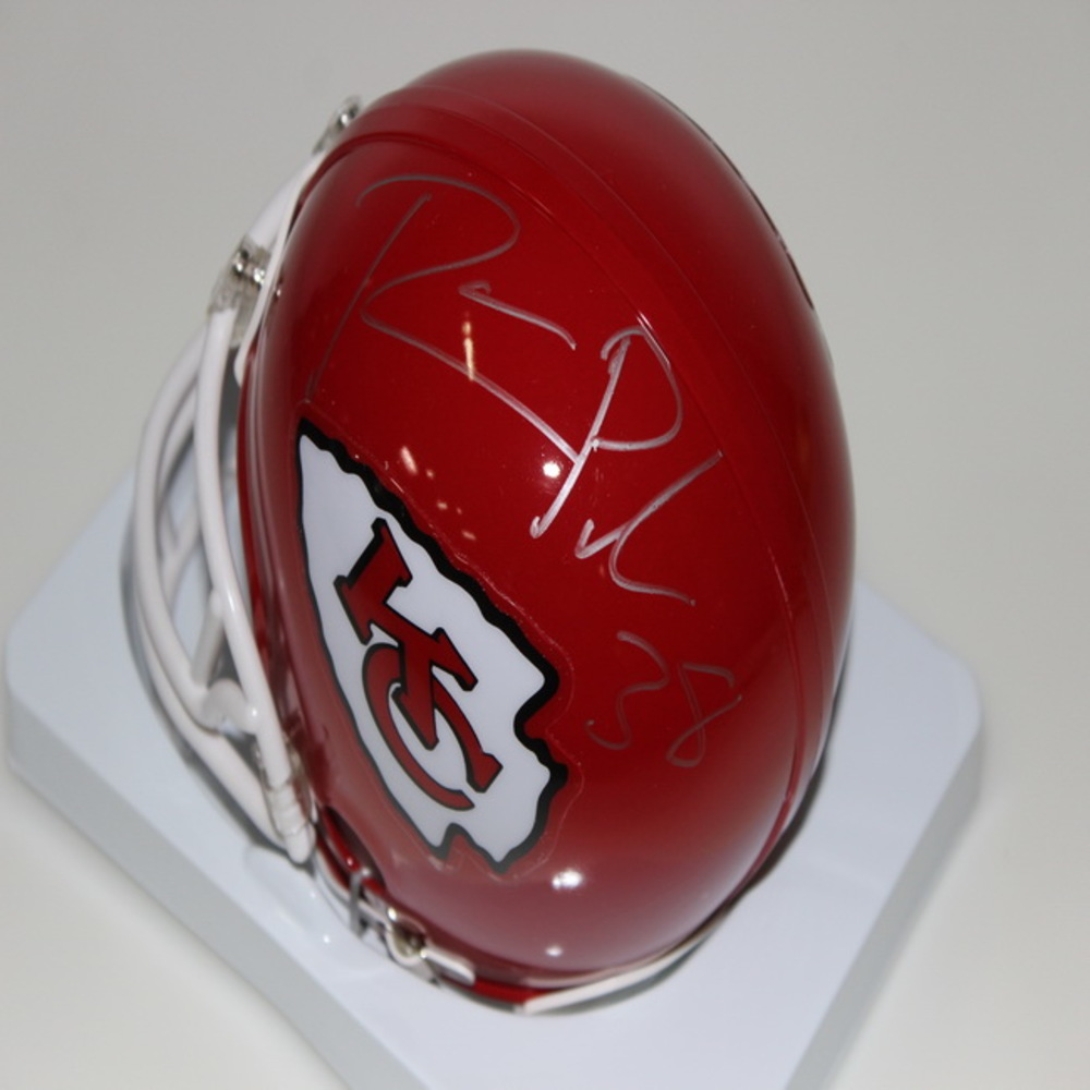 CHIEFS - RON PARKER SIGNED CHIEFS MINI HELMET