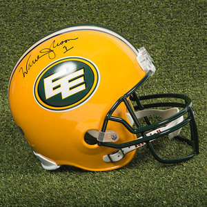 Warren Moon Edmonton Eskimos Autographed Full Size CFL Football Helmet