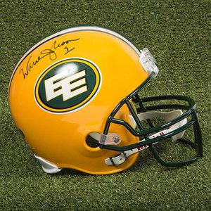 Warren Moon Edmonton Eskimos Autographed Full Size CFL Football Helmet