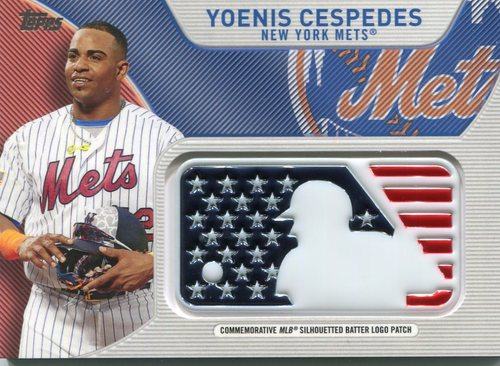 Photo of 2017 Topps Independence Day MLB Logo Patch #IDMLYC Yoenis Cespedes