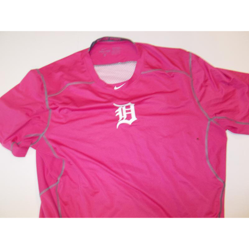 Game-Used Pink Dry-Fit Shirt
