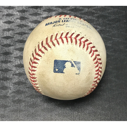 Photo of Game-Used Baseball - J.D. Martinez RBI Double vs. Colin McHugh