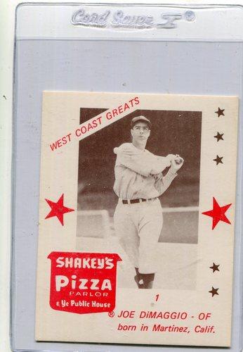 Photo of 1975 Shakey's Pizza #1 Joe DiMaggio