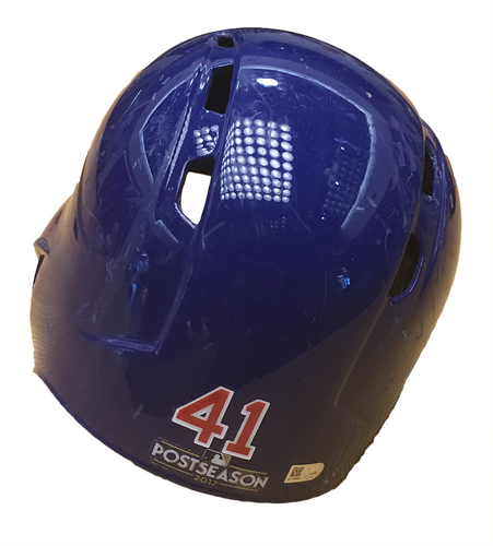 Photo of John Lackey 2017 Postseason Batting Helmet