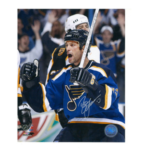 BILL GUERIN Signed St. Louis Blues 8 X 10 Photo - 70391