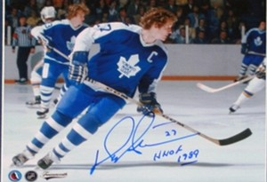 Darryl Sittler - Signed 8x10 Toronto Maple Leafs Photo