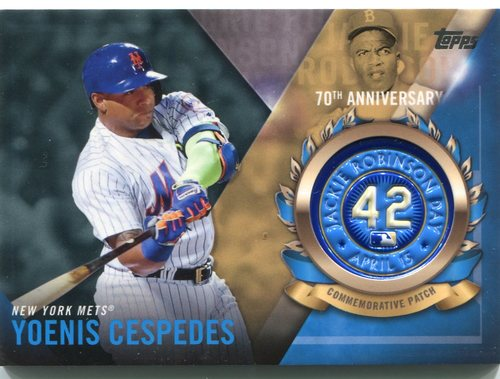 Photo of 2017 Topps Jackie Robinson Logo Patches #JRPCYC Yoenis Cespedes