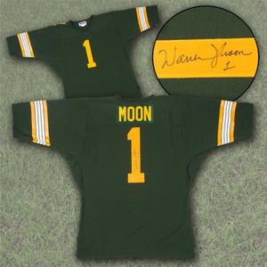 Warren Moon Edmonton Eskimos Autographed Custom CFL Football Jersey