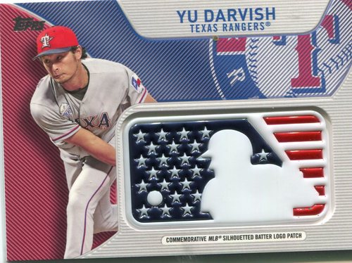 Photo of 2017 Topps Independence Day MLB Logo Patch #IDMLYD Yu Darvish