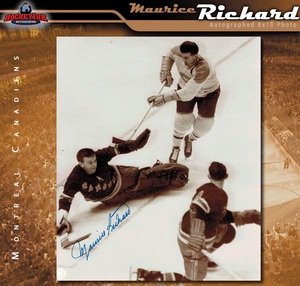 MAURICE RICHARD Signed Montreal Canadiens 8 X 10 Photo - 70494