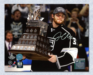 Jonathan Quick Los Angeles Kings Autographed 2012 Conn Smythe 8x10 Photo