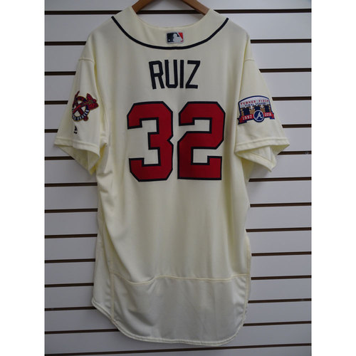 Photo of Rio Ruiz Game-Used Jersey Worn during the Final Game at Turner Field