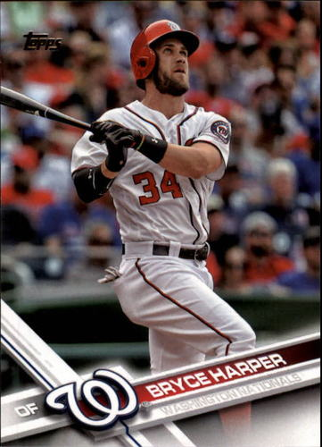 Photo of 2017 Topps #34A Bryce Harper -- Nationals post-season