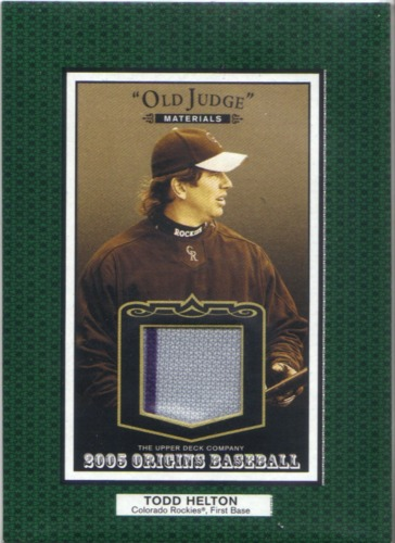 Photo of 2005 Origins Old Judge Materials Jersey #HE Todd Helton
