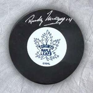 RUDY MIGAY Toronto Maple Leafs Autographed Hockey Puck