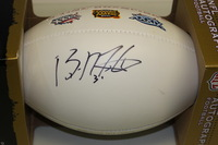 PATRIOTS - BRANDON MERIWEATHER SIGNED PANEL BALL W/ PATRIOTS 3 TIME CHAMPIONS LOGO