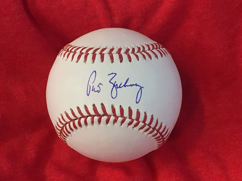Photo of Pat Zachry Autographed Baseball