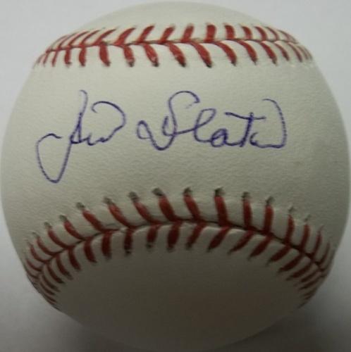 Photo of Jim Slaton Autographed Baseball
