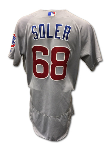 Photo of Jorge Soler Game-Used Jersey -- Cubs at Reds -- 10/1/16 -- Cubs World Championship 2016 Season