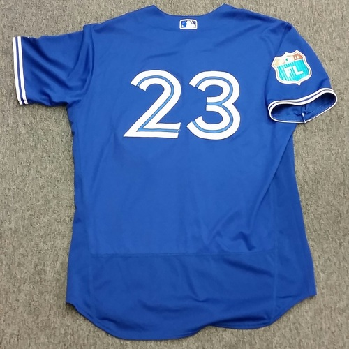 Photo of Authenticated Game Used 2016 Spring Training Jersey - Dalton Pompey